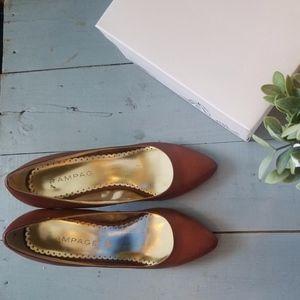 Rampage Shoes - Low-heeled Pumps Dark Tan